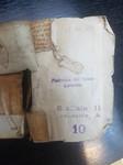 Contropiatto anteriore - frammento 1 (lato visibile) - foglio di guardia anteriore